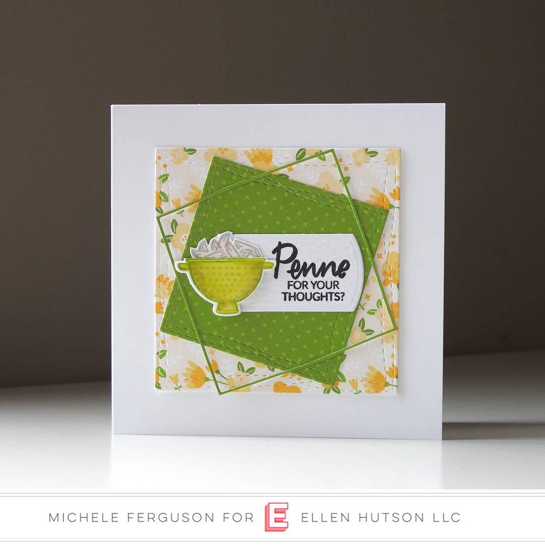Essentials By Ellen Cooking Lady card by Michele Ferguson