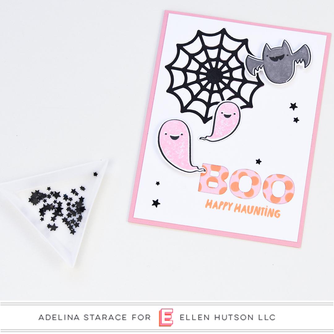 Happy Haunting card by Adelina Starace