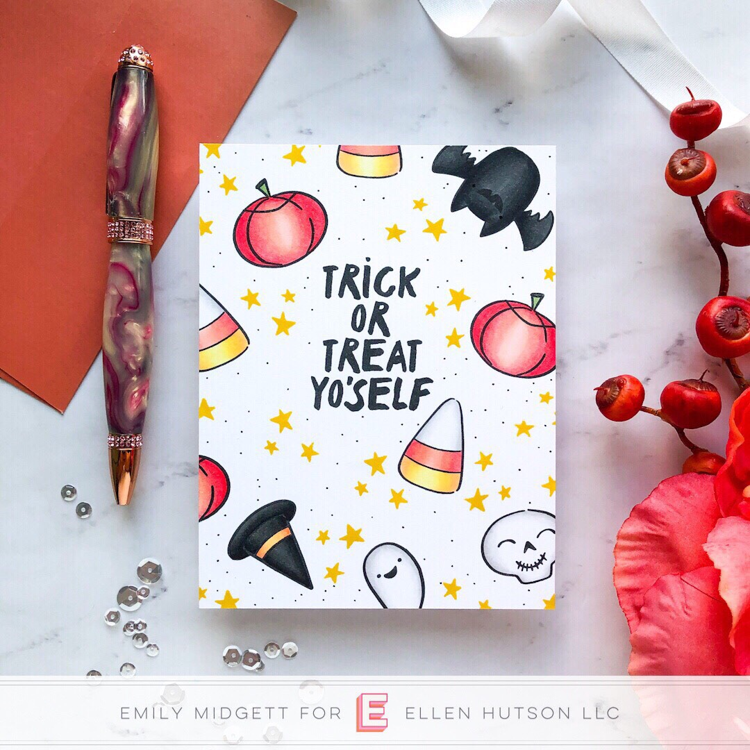 Happy Haunting card by Emily Midgett