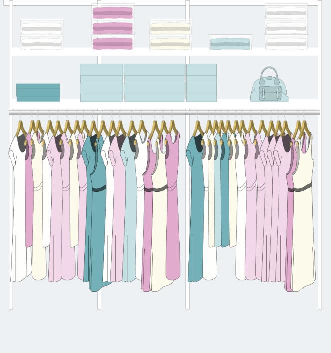 8. Si toda tu ropa se puede colgar, podés elegir este modelo.