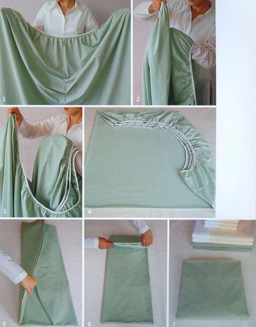 16. Esta es la mejor manera de doblar la sábana de abajo: