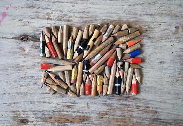6. Los lápices inusables que nunca tirás.