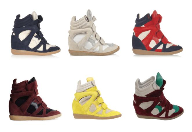 5. Empezó Isabel Marant, siguieron miles de marcas. El modelo de la zapatilla nunca cambió.