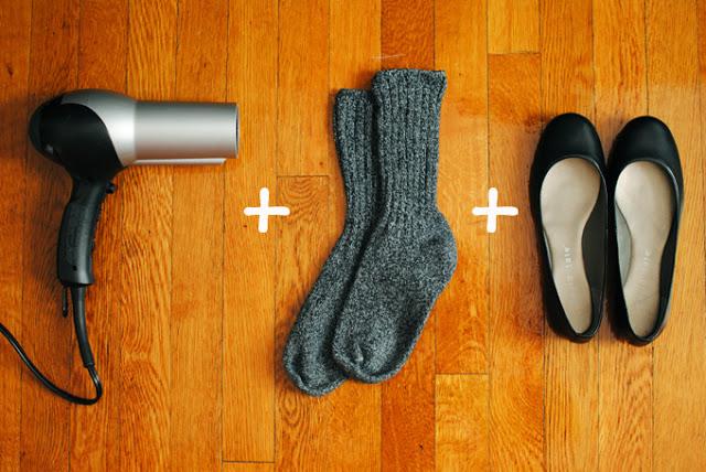 1. Agrandá los zapatos (versión invierno)