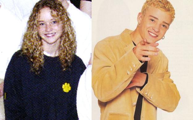 9. Jeniffer Lawrence era igual a Justin Timberlake cuando ambos eran adolescentes
