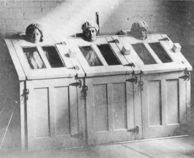 18. Pacientes con tratamiento de vapor. 1910