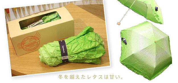 9. Un paraguas-lechuga