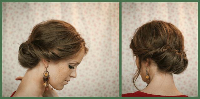 5. Podés hacer el primer peinado de esta forma: