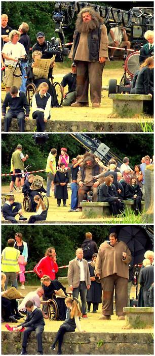 4. La cabaña de Hagrid fue demolida al final de cada película para que los fans no entraran y se llevaran