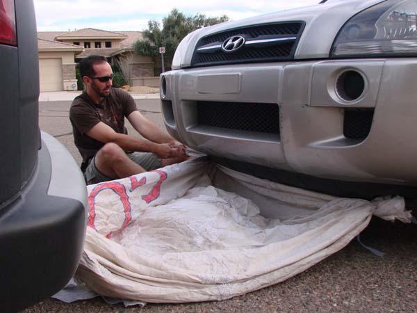 16. Una soga para remolcar un auto