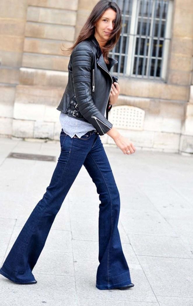 28. Jeans, remera y campera de cuero