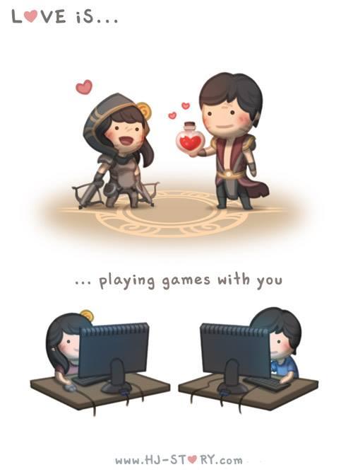 6. El amor es... jugar juntos.