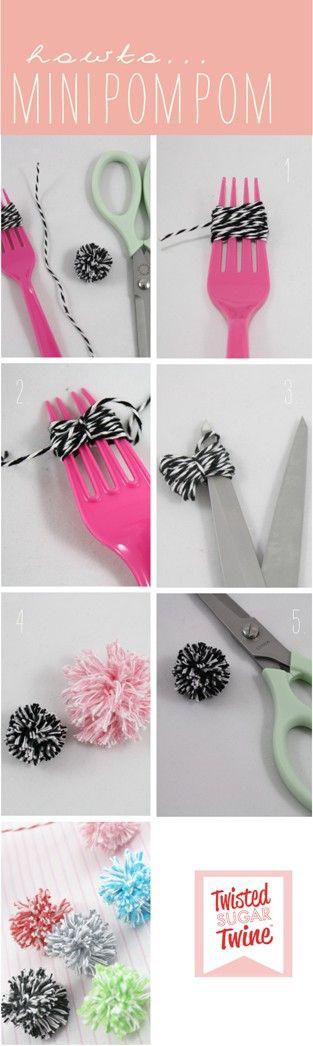 1. Cómo hacer pompones