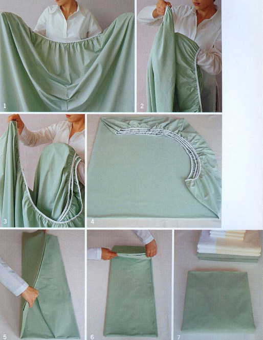 2. Doblá bien tus sábanas.