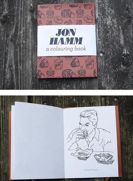 1. Libro para colorear de Jon Hamm (famoso por su papel de Don Draper en Mad Men).