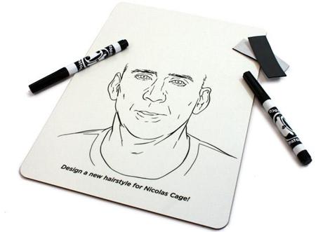 12. Una pizarra para dibujarle pelo a Nicolas Cage.