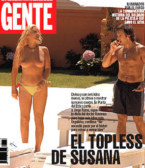 19. Y por último, el desastre de Photoshop argentino más famoso de todos: O Susana nació de un huevo o le borraron el ombligo: