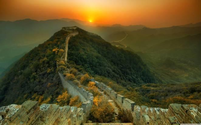 11. Una sección abandonada de la Gran Muralla China