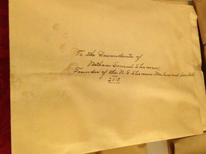 6. Una carta escrita para los descendientes de Nathan Samuel Sherman