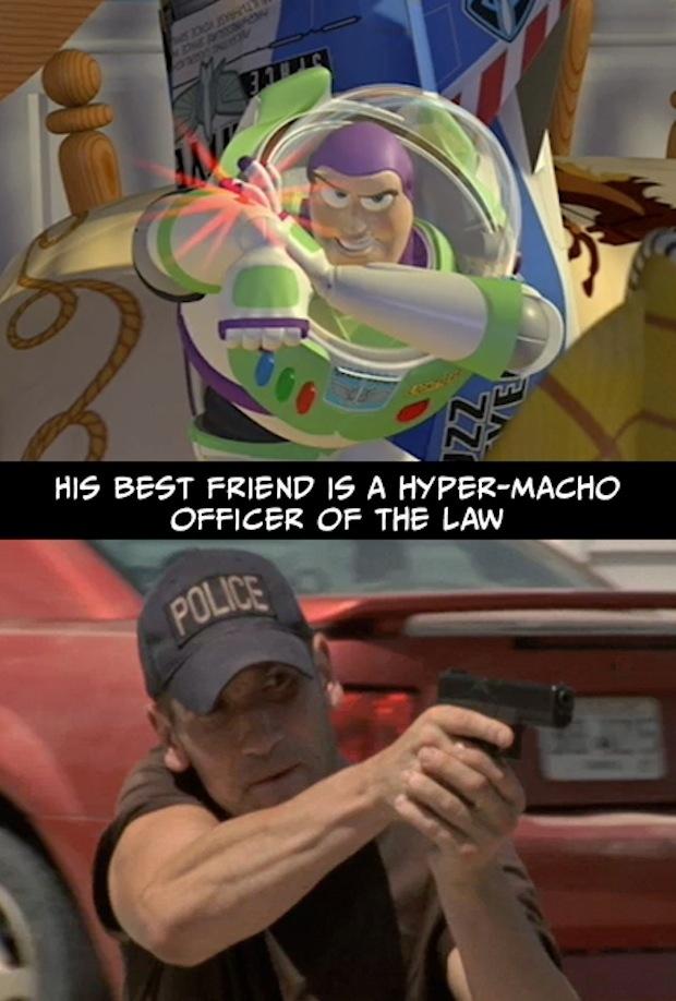 4. Su mejor amigo es un oficial ultra-macho de la ley.