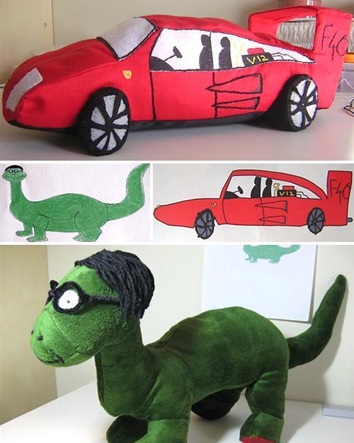 Autos deportivos rojos y dinosaurios: el sueño del pibe.