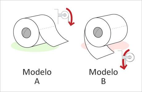 10. Todavía hoy se sigue discutiendo sobre como va orientado el rollo de papel higienico