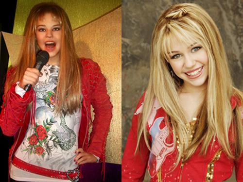 1. Miley Cyrus parece Britney Spears a los 12 años.