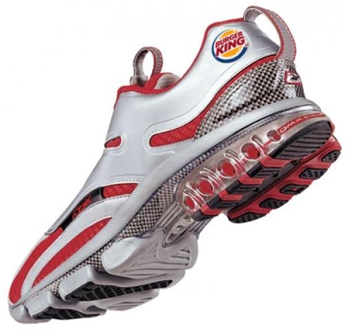10. Zapatillas Burger King para bajar todo lo que comes, corriendo