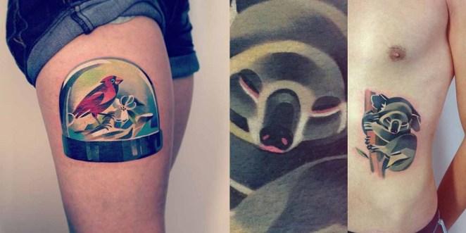 Tatúa muchos animales