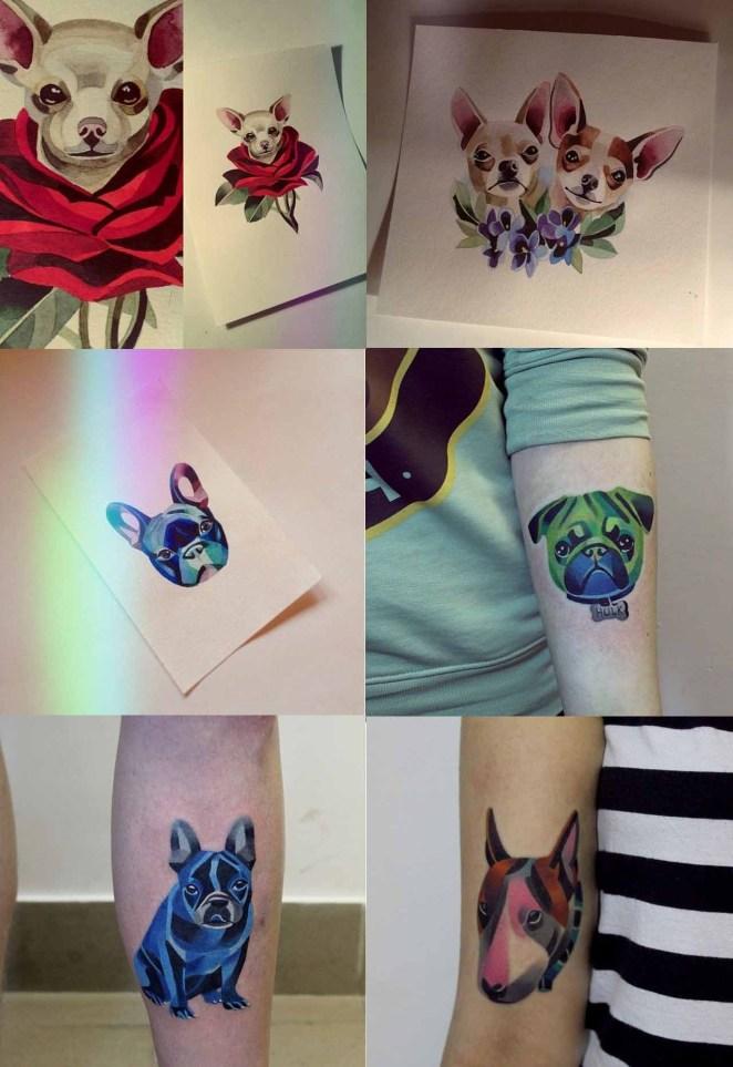 Hace tatuajes de perros,