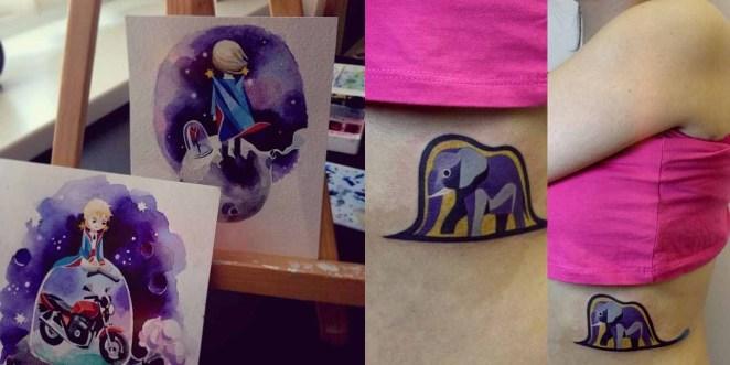 Tatuajes inspirados en cuentos como, por ejemplo,