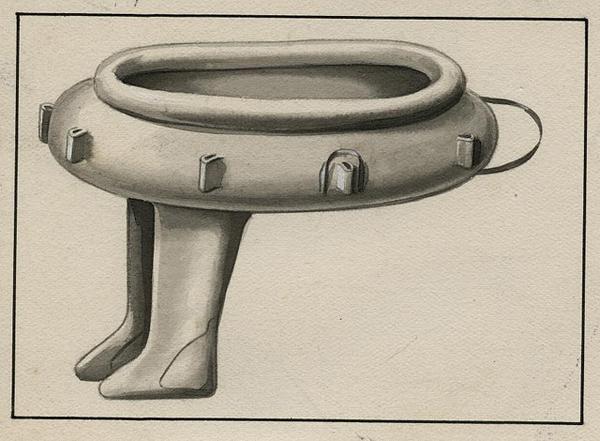 3. Bote con botas, para deportistas