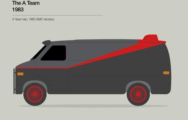 4. Brigada A (1983). Es una Van de 1983 GMC Vandura.