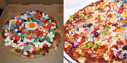 4. Pizza de golosinas
