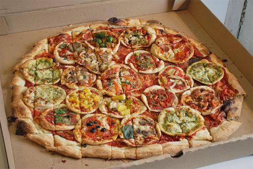 12. Y la mejor de todas: pizza de pizzas