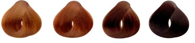 y tu pelo es rubio con tonos rojizos, colorado, marrón o negro