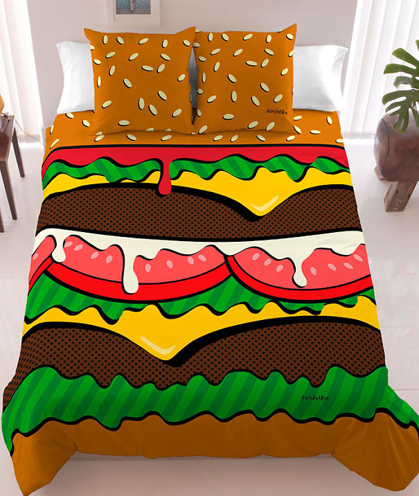 Hamburger Bed Sheets
