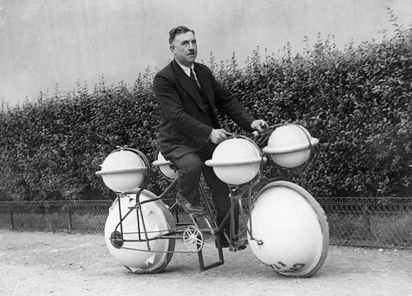 7. Una bicicleta anfibia