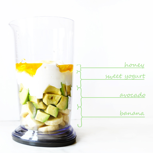 4. Smoothie de palta y banana.