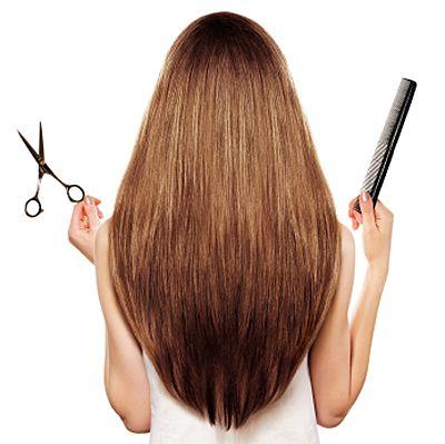 1. El corte puede ser en forma de v para conservar el largo y a la vez cambiar el corte.