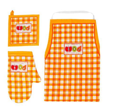 O este divertido Set de Cocina Naranja V.H Fabrics Fruta, a 9