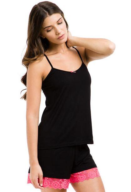 O este Pijama Negro Cocot Puntilla de Dafiti, a 0