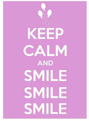 Bastidor KEEP CALM & SMILE de CoventArt, a 0