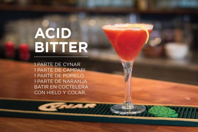7. ¿Cítrico y amarguito? Acid bitter, una creación de Agustín Bertero, de Bar Duarte