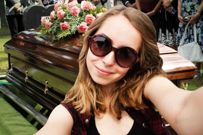 3. En un funeral