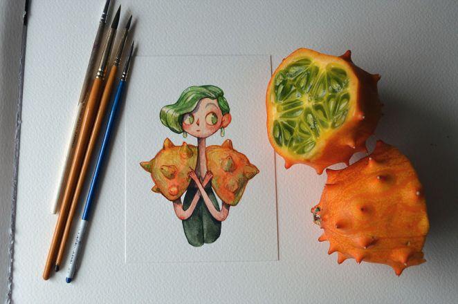 A Curious Horned Melon