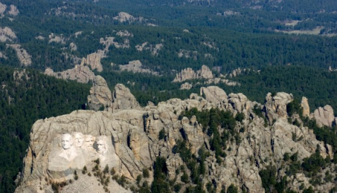 Mount Rushmore National Memorial in the Black Hills near Keystone, S.D.