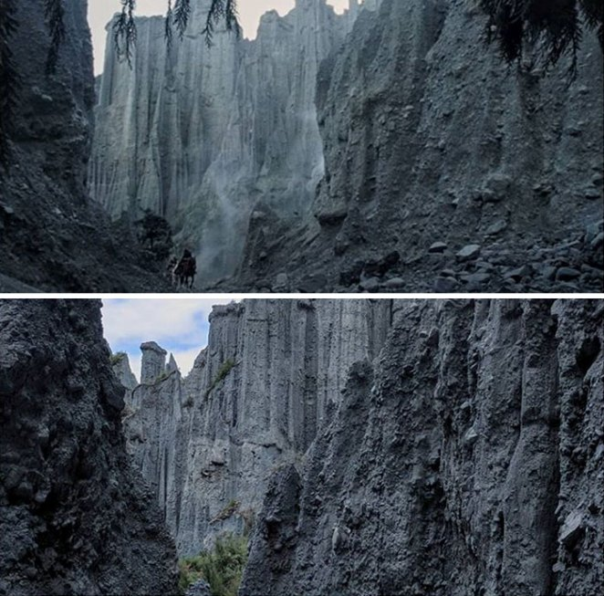Traveling The Valley Of Harrowdale Towards The Paths Of The Dead At The Putangirua Pinnacles In Aorangi Forest