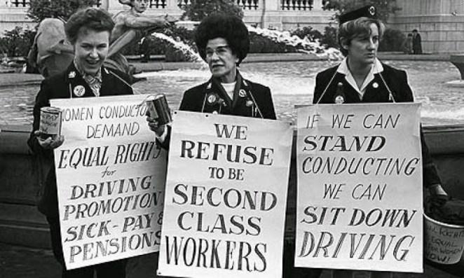 Resultado de imagen para women protest signs vintage