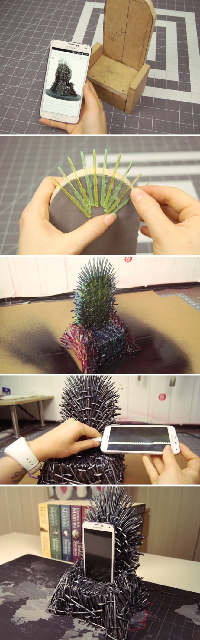 I Made An Iron Throne Phone Charger